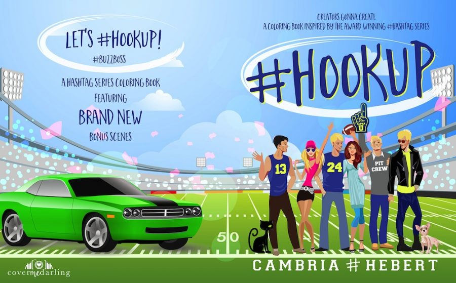 #HOOKUP (Hashtag Series) Coloring Book by Cambria Hebert (Full Cover)